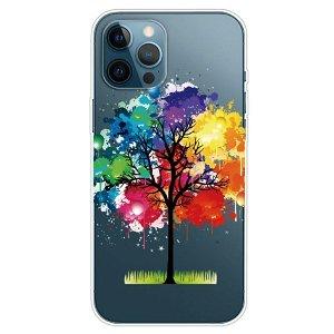 iPhone 13 Pro Max Fleksibel Plastik Cover - Farverigt Træ