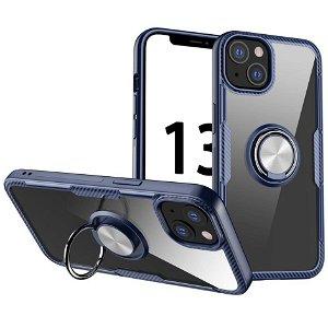 iPhone 13 Mini Håndværker Bagside Cover m. Magnetisk Kickstand - Sort / Lyseblå