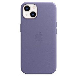 Original Apple iPhone 13 Læder MagSafe Bagside Cover Blåregn (MM163ZM/A)