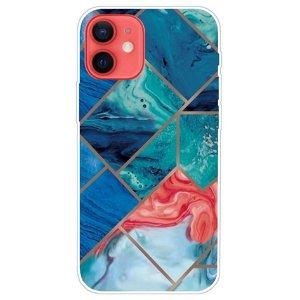 iPhone 13 Mini Fleksibel Plastik Bagside Cover - Ocean Marmor
