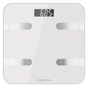 Forever AS-100 Smart Scale - Badevægt m. Bluetooth Kropsanalyse - Hvid