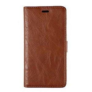 Huawei P8 Slim Wallet Læder Cover m. Pung Brun