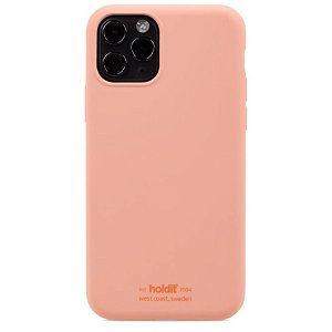 Holdit iPhone 11 Pro Soft Touch Silikone Bagside Cover - Pink Peach