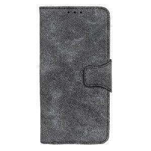 OnePlus Nord CE (5G) Retro Læder Flip Cover m. Kortholder - Grå