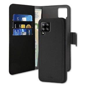 Samsung Galaxy A42 5G Puro Wallet Detachable 2-In-1 Cover - Sort