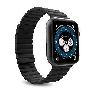 Puro ICON Link Apple Watch (42-45mm) Silikone Rem i Str. M/L - Sort