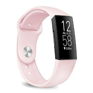 Fitbit Charge 4 / 3 Puro ICON Silikone Rem - Lyserød