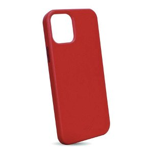 iPhone 12 / 12 Pro Puro Cover - Sky Leather Look - Rød
