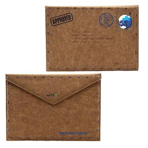 "MacBook Air 11.6"" SAMDI Retro Letter Sleeve Brun"