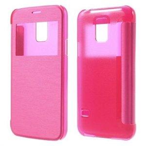 Samsung Galaxy S5 Mini S-View Flip Cover - Rosa
