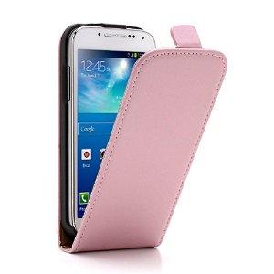 Samsung Galaxy S4 Mini Læder Flip Etui V2 Pink / Brun