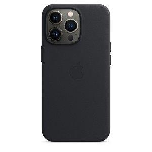 Original Apple iPhone 13 Pro Læder MagSafe Cover Sort (MM1H3ZM/A)