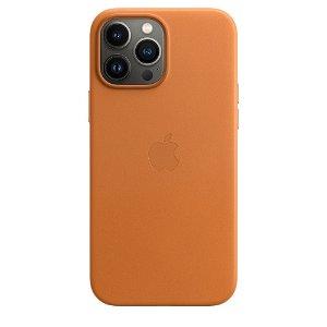 Original Apple iPhone 13 Pro Max Læder MagSafe Bagside Cover Okker (MM1L3ZM/A)