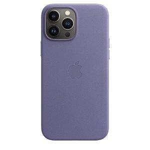Original Apple iPhone 13 Pro Max Læder MagSafe Bagside Cover Blåregn (MM1P3ZM/A)