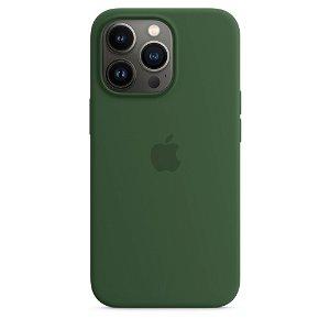 Original Apple iPhone 13 Pro Silikone MagSafe Cover Kløvergrøn (MM2F3ZM/A)