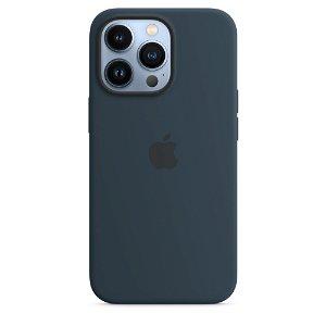 Original Apple iPhone 13 Pro Silikone MagSafe Cover Mørk Dybhavsblå (MM2J3ZM/A)