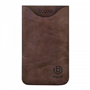 Bugatti Skinny Umber Leather luksus mobiltaske/etui - brun læder
