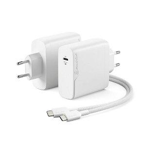 ALOGIC 100W PD Rapid Power GaN Vægoplader m. USB-C Kabel - Hvid