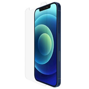 iPhone 12 Mini Belkin TemperedGlass Anti-Microbial Hærdet Glas - Case Friendly - Gennemsigtig